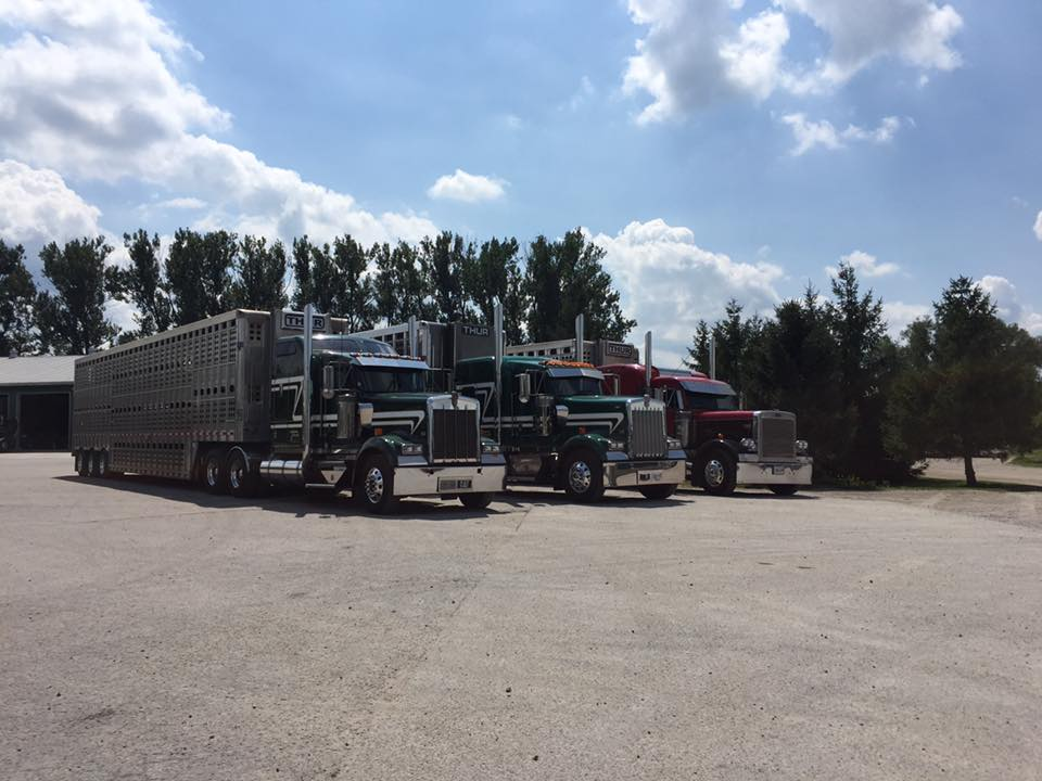 Three Trucks Front Right Side