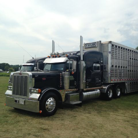 Thur Black Truck Front Left View With Trailer